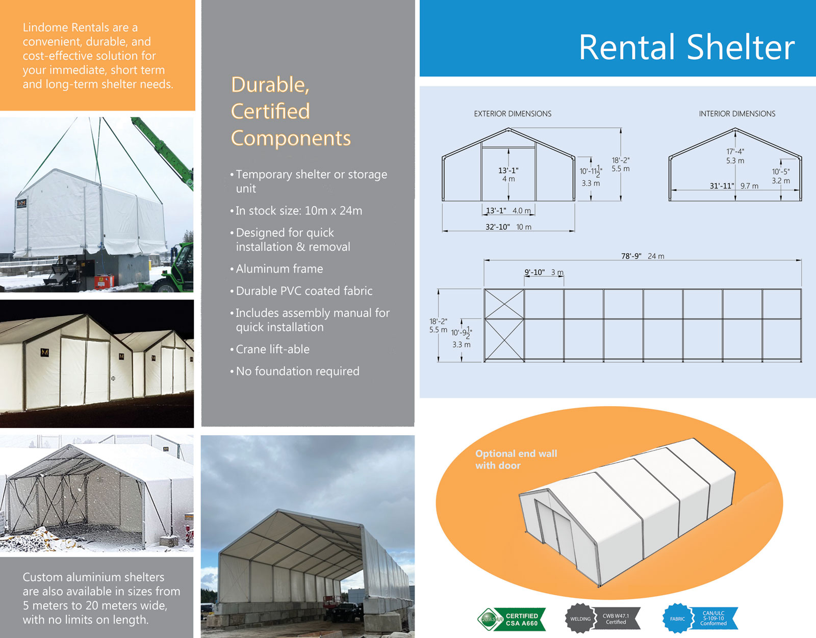 Fabric Building Rentals